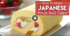 Cakes are served in many sizes, flavors, and textures. This Japanese version of a fruit cake roll is light, spongy, and creamy.