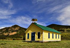 The Yellow School House - Located just west of the Town of Rollinsville and just east of the East Portal of the Moffitt Tunnel