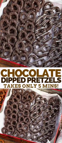 Chocolate Covered Pretzels are sweet salty and crunchy made with pretzel twists melted chocolate and flaky sea salt It s the perfect holiday treat or you can give them as gifts Chocolate Covered Pretzels Recipe, Melted Chocolate, Chocolate Covered Strawberries, Chocolate Coveted Pretzels, Chocolate Candy Melts, Chocolate Chocolate, Pretzel Desserts, Pretzel Dip, Recipes
