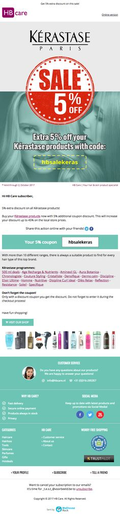 Kerastase has several great shampoos Mail Marketing, No Worries, Campaign, Productivity