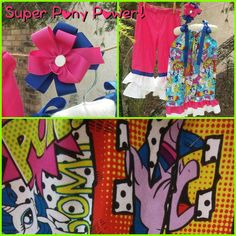 Check out this item in my Etsy shop https://www.etsy.com/listing/241505409/pony-super-power-set-with-bow