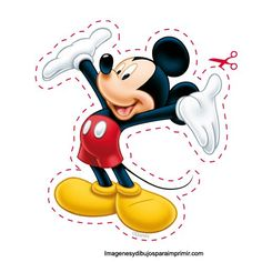 Disney has the best printables for your children. Print these on sticker paper, cut out, and enjoy! Mickey E Minie, Fiesta Mickey Mouse, Mickey Mouse Bday, Mickey Mouse Clubhouse Birthday, Mickey Mouse Parties, Mickey Party, Mickey Mouse And Friends, Mickey Mouse Birthday, Theme Mickey