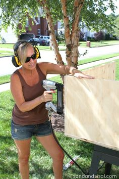 Learn how to make a rolling DIY outdoor storage box / bench for your patio or deck with this step by step tutorial. Outside Storage Bench, Diy Storage Bench, Outdoor Storage, Cabinet Storage, Storage Ideas, Diy Furniture Fix, Furniture Decor, Outdoor Furniture, Small Half Bathrooms