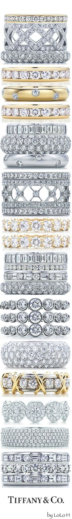 Tiffany Celebration Rings...you can create your own unique stack on Tiffany