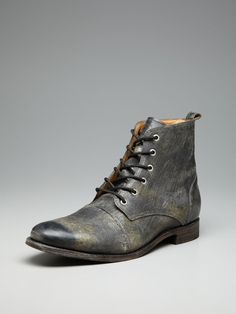 Distressed Leather Lennon Lace Up Boots by JD Fisk on Gilt