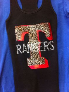 Texas Rangers Bling Tank Top by ThreadsToo on Etsy, $28.00