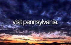 ✔ Bucket list: Visit Pennsylvania. CHECK! (March 2007)