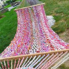 These are crafted out of rope made from discarded plastic bags and recycled hardwood pulled from landfills