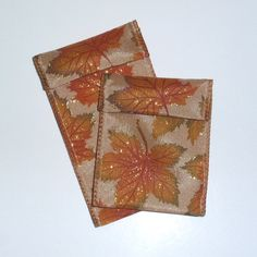 Jewelry Bead Pouches  12 Fall Leaves Glitter   by ksewingbasket, $4.00 https://www.etsy.com/listing/163733919/jewelry-bead-pouches-12-fall-leaves?ref=tre-2725043754-3