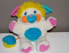 OOOOOHHHH EEMMMM GEEEE!!!! ITS A POPPLE!!!!!!!!!!! Puffball Popple  Plush 1980's Toy on Etsy, $28.00