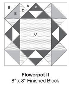 Flowerpot II, part of Quilter's World's FREE Quilt Block of the Month. Get the download here: http://www.quiltersworld.com/Quilt_Block/?id=34&source=fcebkqw