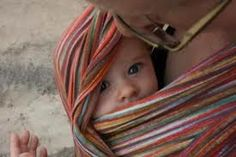 Little cutie wrapped up in an Iris Wrapsody Breeze.    / Colleen at WrapsodyBaby.com