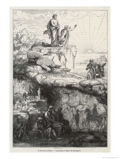 In Plato's Republic Socrates Likens Mankind to Prisoners in a Cave Giclee Print by Chevignard - AllPosters.co.uk