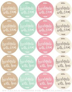 Free Printables HandDrawn labels for Handmade goods.: