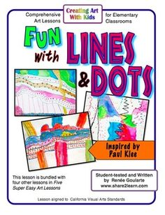 Fun with Lines & Dots - easy and engaging art lesson inspired by Paul Klee
