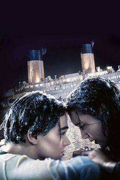Jack played by Leonardo DiCaprio and Rose played by Kate Winslet from the movie Titanic Titanic Quotes, Titanic Movie, Rms Titanic, Sad Movies, Great Movies, Movie Tv, Movies And Series, Movies And Tv Shows, Titanic Kate Winslet