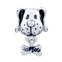 Pugster Dog Bone Dangle Silver Plated Style Pandora Beads