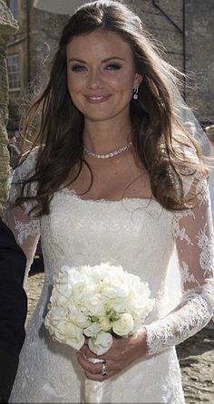 Lady Natasha Rufus-Issacs wedding day on 8 June 2013 to Rupert Finch at John the Baptist Church, Cirencester