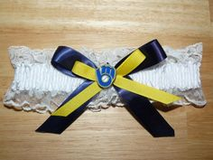 Handmade Inspired Milwaukee Brewers Wedding by crystalcreationsbyj, $12.99 - obviously I wouldn't want the Brewers...haha