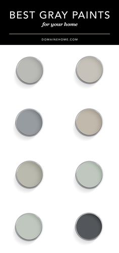 Ultimate guide to the best designer-approved gray paint colors.