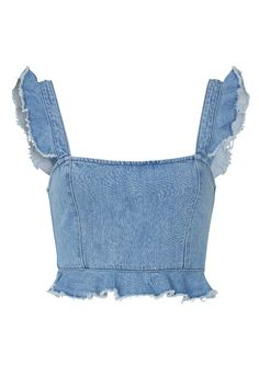 Denim Outfits, Crop Top Outfits, Cute Casual Outfits, Denim Top Outfit, Fashionable Outfits, Chic Outfits, Fashion Sewing, Denim Fashion, Teen Fashion