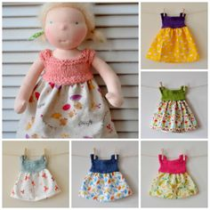 KNITTING PATTERN- Knit&Sew Dolly Dress- In 4 Sizes from Julie Hunter (this cosy life)
