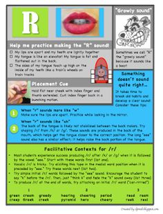 Articulation handouts, many others on her website as well