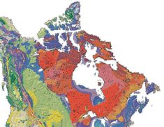 Geological map of Canada