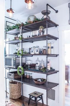 Pantry shelving. I like this industrial looking option