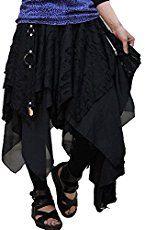 Hippies Women's Damage Crush Zommbie Dress Skirt, Medium, Black