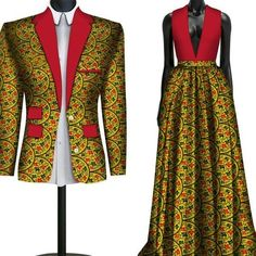 African Couple Clothing Lovers Outfit Wedding Flower Men Bridesmaid Suit, - Wedding And Engagement Couples African Outfits, African Clothing For Men, African Dresses For Women, African Print Dresses, African Bridesmaid Dresses, African Fashion Designers, African Fashion Ankara, African Print Fashion, Africa Fashion