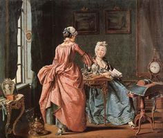 The Chamber Maid Brings Tea, Pehr Hillestrom, 1775