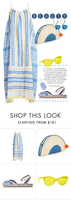 """Beachy."" by s-elle ❤ liked on Polyvore featuring Lemlem, Sophie Anderson, Tabitha Simmons, Italia Independent, beach, maxidress and StrawBag"