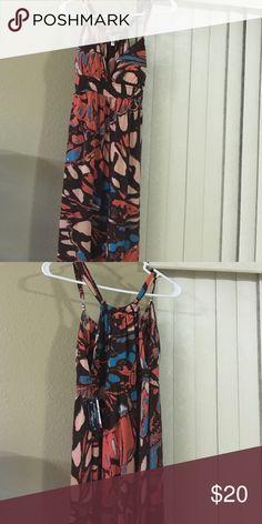 New without tags Multicolored Maxi Dress orange, black, turquoise Maxi dress Dresses Maxi