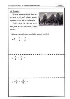 Blog Professor Zezinho : 85 Avaliações para o 5º ano - Provas para o 5º ano para imprimir