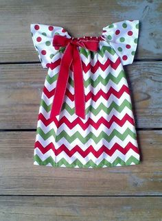 Christmas outfit Christmas Dress only red green by MudanBlossoms, $29.00