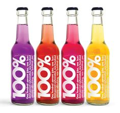 100% bottles - love the bit font and bright colors on these #soda bottles