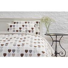 Wilko Chocolate Hearts Duvet Set King