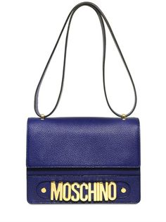 MOSCHINO - ROSELLA GRAINED LEATHER SHOULDER BAG - LUISAVIAROMA - LUXURY SHOPPING WORLDWIDE SHIPPING - FLORENCE