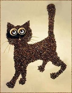 Food art with coffee beans by Irina Nikitina l #photography