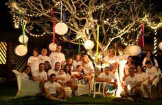 Netinho no Reveillon 2013 em sua casa na Praia de Guarajua/BA com sua família e amigos.