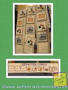 Autism Classroom NewsVisual Schedule Series: Mini Schedules for Activities (and a Freebie!)