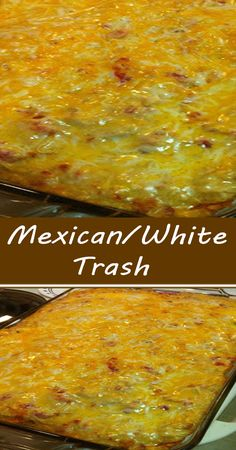 Mexican Dishes, Mexican Food Recipes, Crockpot Recipes, Cooking Recipes, Mexican Trash, Chicken Recipes, Easy Casserole Recipes, Casserole Dishes, Easy Mexican Casserole