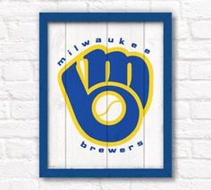 Vintage Milwaukee Brewers  rustic home decor by thePaintedLlama, $55.00
