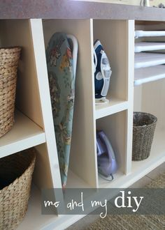 Laundry Room Makeover at Me and My DIY. Some great ideas for storage.