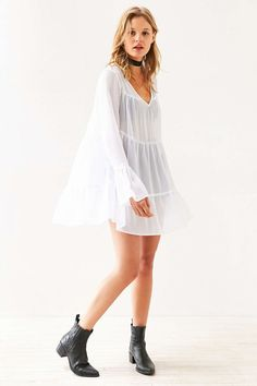 Kimchi Blue Abby Tiered Babydoll Tunic Top - Urban Outfitters
