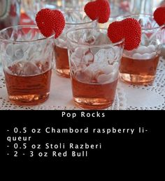 Different shot recipes, and some jello shot ideas