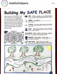 Creating a safe place Counseling Activities, Art Therapy Activities, Play Therapy, School Counseling, Therapy Ideas, Social Skills Autism, Social Emotional Learning, Art Therapy Directives, Counseling Techniques