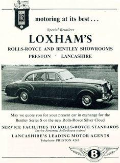 1958 advert featuring Bentley S1 Flying Spur
