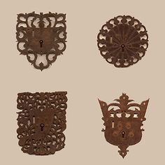 Spanish Colonial Decorative Accents, mexican Colonial Iron, Antique Mexican Crosses and Ceramics